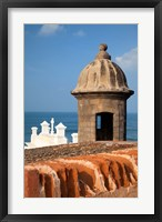 Framed Lookout tower at Fort San Cristobal, Old San Juan, Puerto Rico, Caribbean