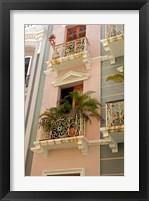Framed Puerto Rico, San Juan Facades of Old San Juan