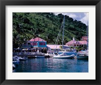Framed Sopers Hole Wharf, Pussers Landing, Frenchmans Cay, Tortola, Caribbean