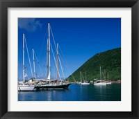 Framed Frenchmans Cay, Tortola, British Virgin Islands, Caribbean