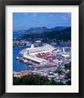 Framed Castries, St Lucia, Caribbean