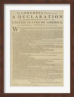 Framed United States Declaration of Independence