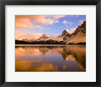 Framed Bow Lake, Banff NP, Alberta, Canada