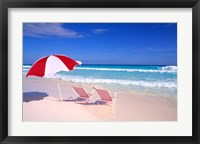 Framed Beach Umbrella and Chairs, Caribbean