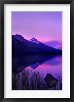Framed Moraine Lake, Banff National Park, Alberta, Canada