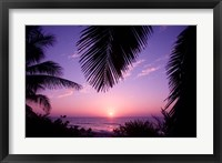 Framed Sunset, Cayman Brac, Cayman Islands, Caribbean