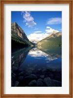 Framed Victoria Glacier and Lake Louise, Banff National Park, Alberta, Canada