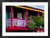 Framed Dutch Buildings in Philipsburg, St Maarten, Caribbean