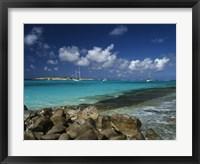 Framed Orient Bay, St Martin, Caribbean
