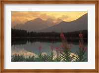 Framed Alberta, Banff, Lake Herbert, Canadian Rockies