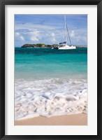 Framed Catamaran off Orient Beach, St Maarten, West Indies