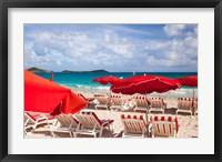 Framed Orient Beach, St Maarten, French West Indies