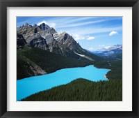 Framed Peyto Lake, Banff National Park, Alberta, Canada