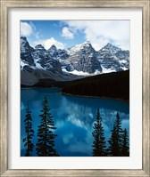Framed Lake Moraine, Banff National Park, Alberta, Canada