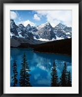 Framed Lake Moraine, Banff National Park, Alberta, Canada