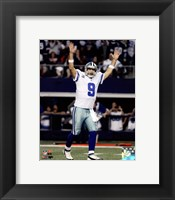 Framed Tony Romo Touchdown Celebration 2014 Playoff Action