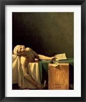 Framed Death of Marat, 1793