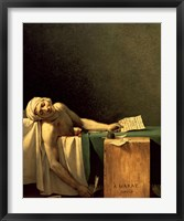 Framed Death of Marat, 1793