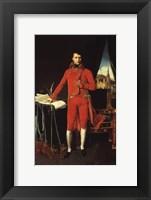 Framed Napoleon Bonaparte in Red