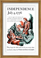 Framed Thomas Jefferson Reading the Declaration of Independence