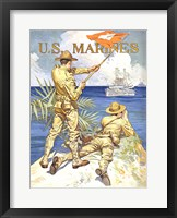 Framed WWI - Two Marines on the Beach