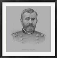 Framed General Ulysses S. Grant (drawn portrait)