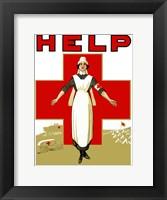 Framed Help - Red Cross Nurse