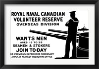 Framed Royal Naval Canadian Volunteer Reserve