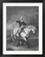 Framed General George Washington on Horseback
