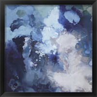 Framed Blue Flo