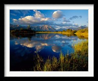 Framed Maskinonge Lake, Wateron Lakes National Park, Alberta, Canada