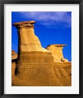 Framed Hoodoos near Drumheller, Alberta, Canada