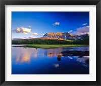Framed Sofa Mountain Reflects in Beaver Pond, Wateron Lakes National Park, Alberta, Canada