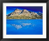 Framed Vimy Peak Reflects into Waterton Lake, Wateron Lakes National Park, Alberta, Canada
