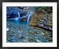 Framed Cameron Falls, Waterton Lakes NP, Alberta, Canada