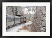 Framed Via Rail Snow Train Between Edmonton & Jasper, Alberta, Canada