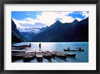 Framed Emerald Lake, Alberta, Canada