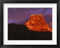 Framed Early Light in Jasper National Park, Alberta, Canada