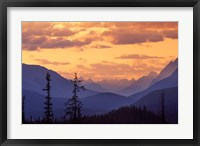 Framed Sunset in Banff National Park, Alberta, Canada