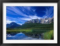 Framed Cirrus Clouds Over Waterfowl Lake, Banff National Park, Alberta, Canada