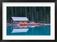 Framed Canoe rental house on Lake Louise, Banff National Park, Alberta, Canada