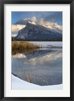Framed Mount Rundle, Vermillion Lake, Banff NP, Alberta
