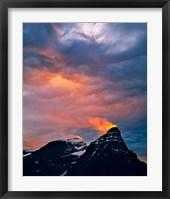 Framed Alberta, Mt Chephren, Sunset light in Banff NP