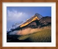 Framed Alberta, Banff NP, Sunrise of the Canadian Rockies