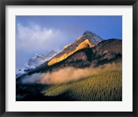 Framed Alberta, Banff NP, Sunrise of the Canadian Rockies
