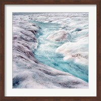 Framed Athabasca Glacier, Columbia Icefields, Alberta