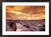 Framed Boats at Sunset, Comox Harbor, British Columbia