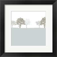 Framed Treeline Blue