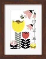 Framed Nordic Flowers II