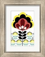 Framed Nordic Flowers V